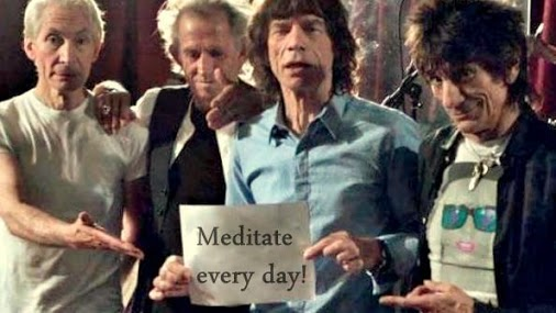 meditation recommended by the Rolling Stones
